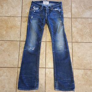 Big Star Liv Boot cut distressed jeans